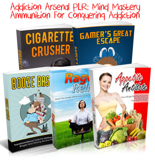 Product picture Addiction Arsenal PLR - 5 Smoking Hot PLR Packages!!